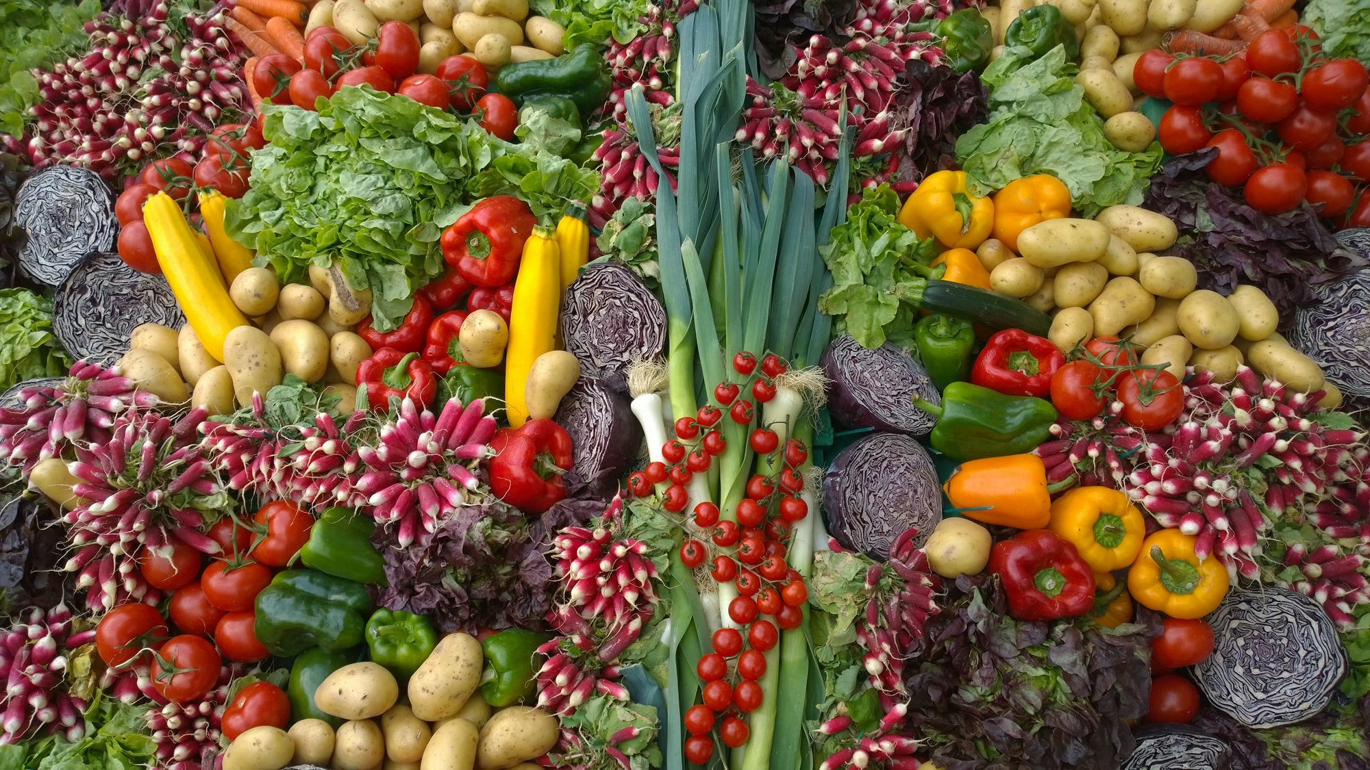 Mix of vegetables at the Flower Show in Chantilly