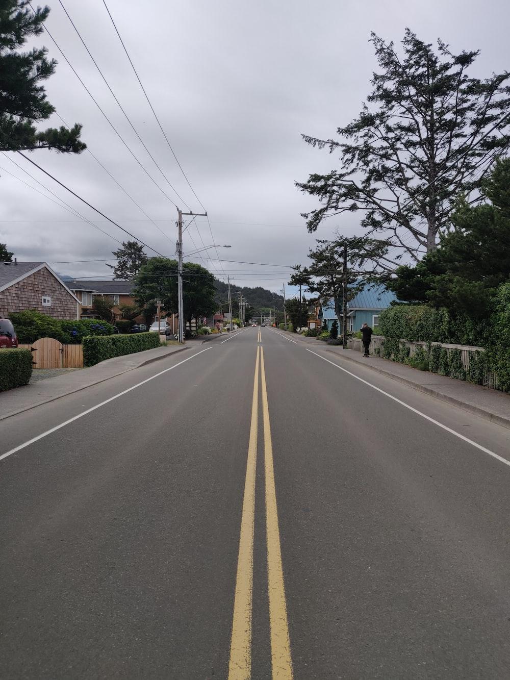 road yellow lane
