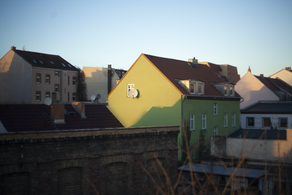 yellow painted building