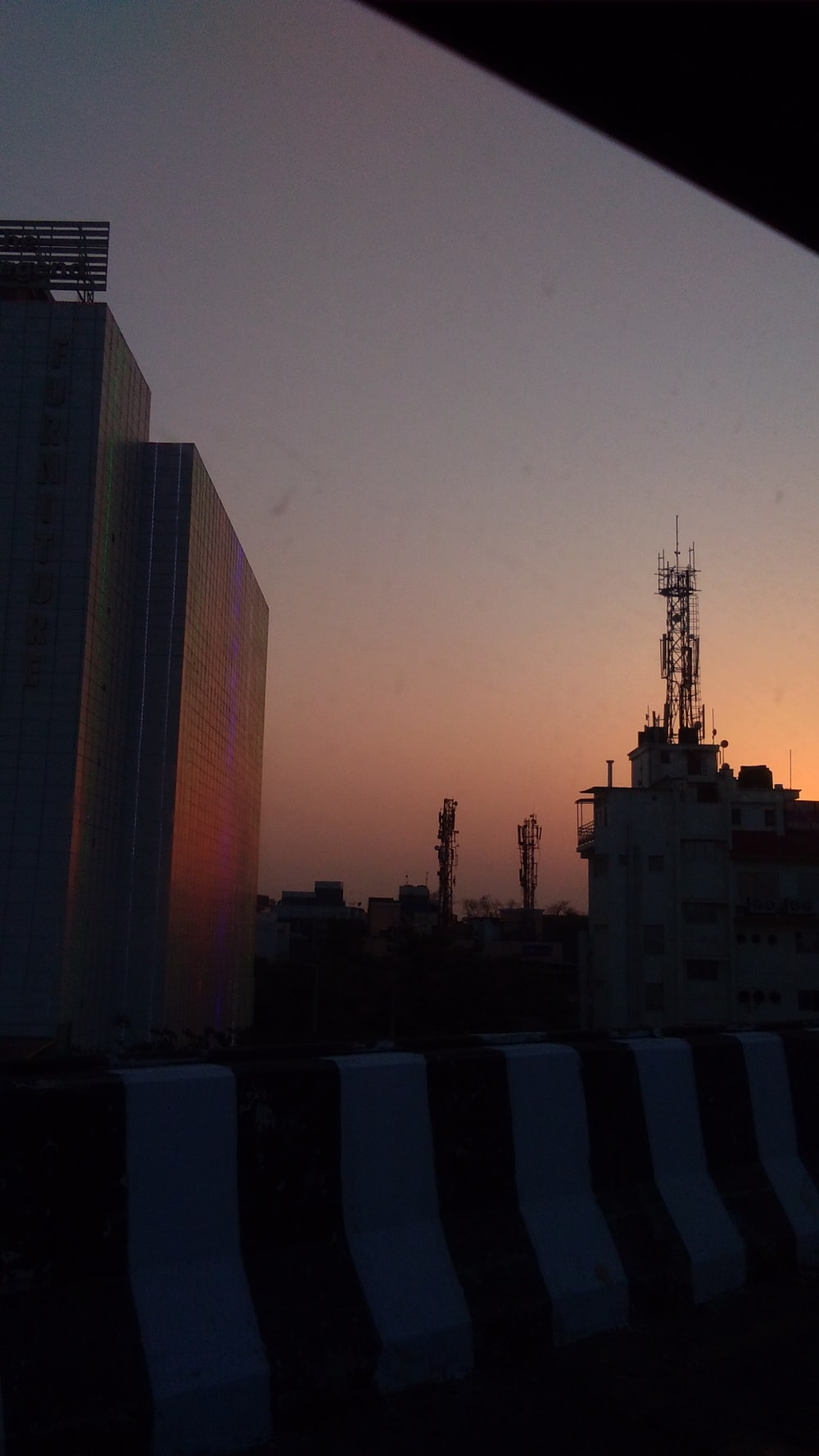 view of high-rise buildings during golden hour