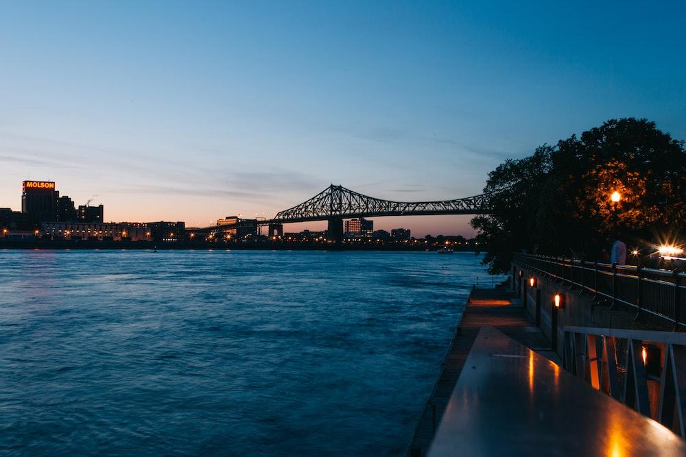 black concrete bridge during golden hour