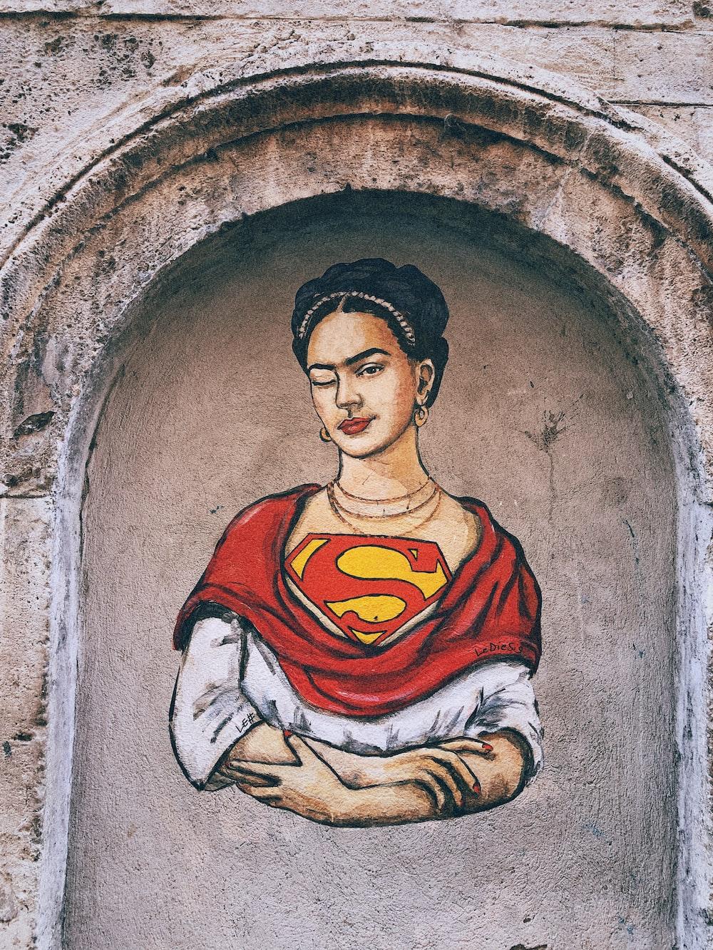 Frida Kahlo Supergirl mural