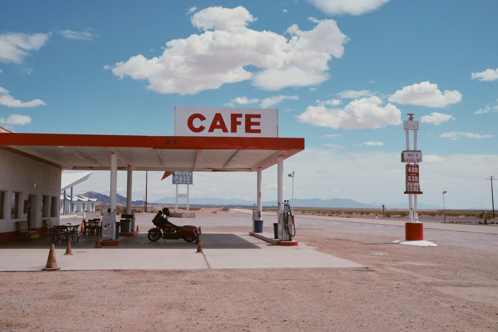 cafe and gasoline station