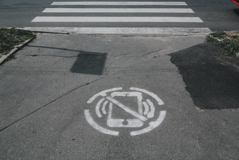 gray pedestrian lane
