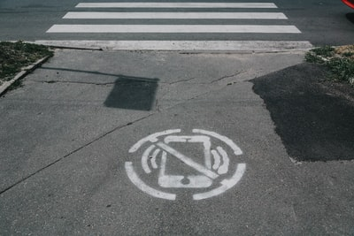 gray pedestrian lane asphalt teams background