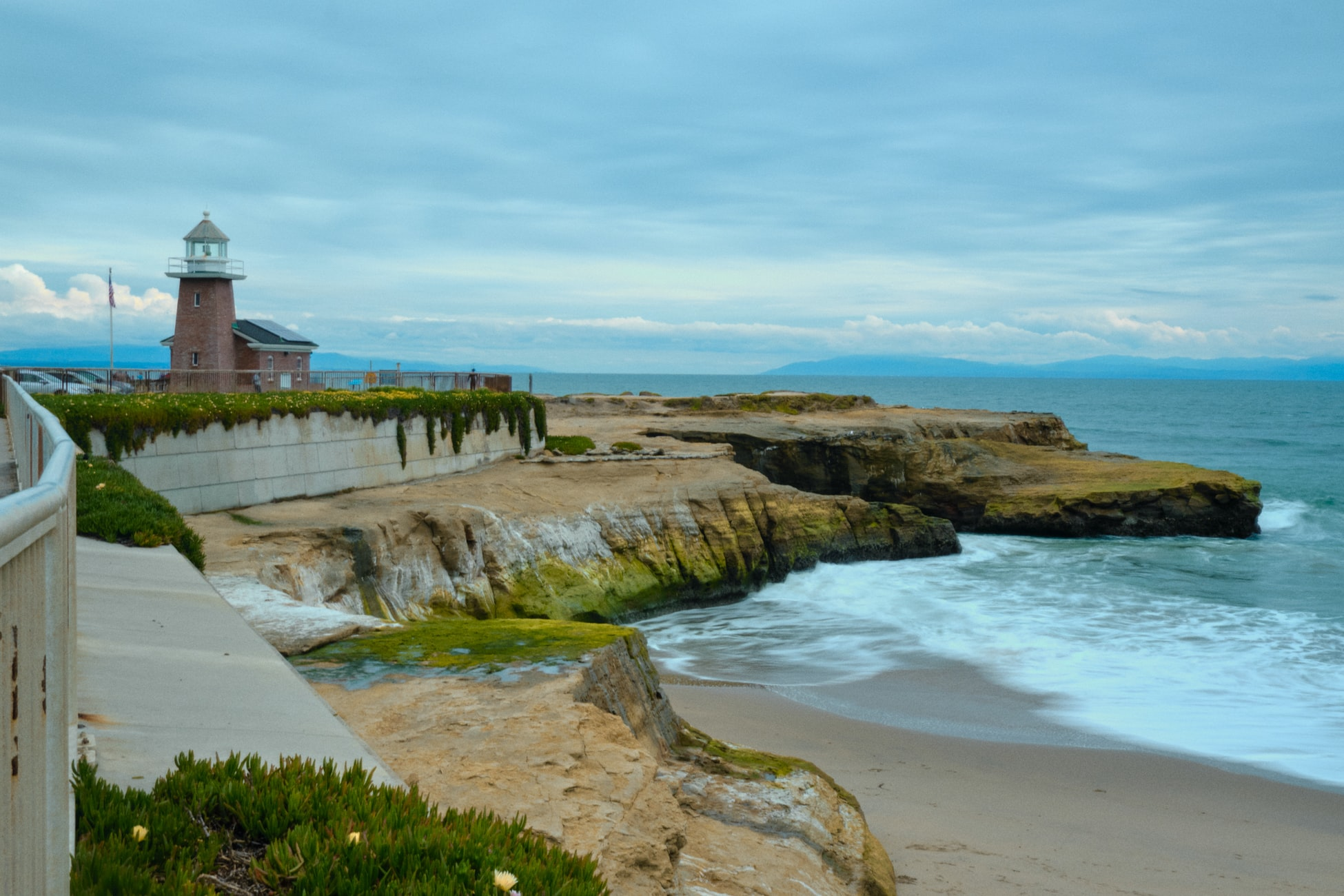 lighthouse on the coast in cambria, ca