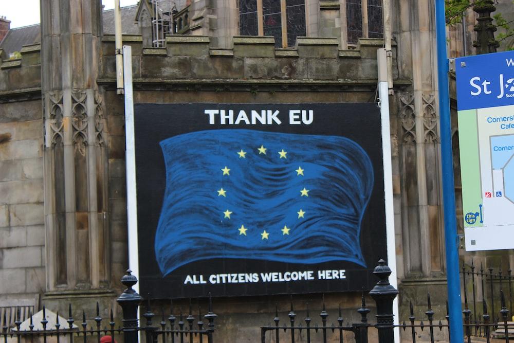 Thank Eu signage
