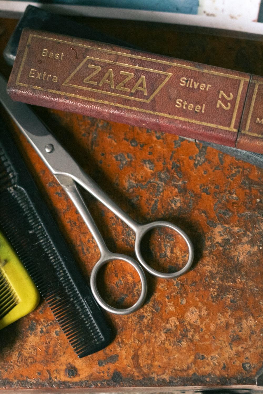 gray scissors