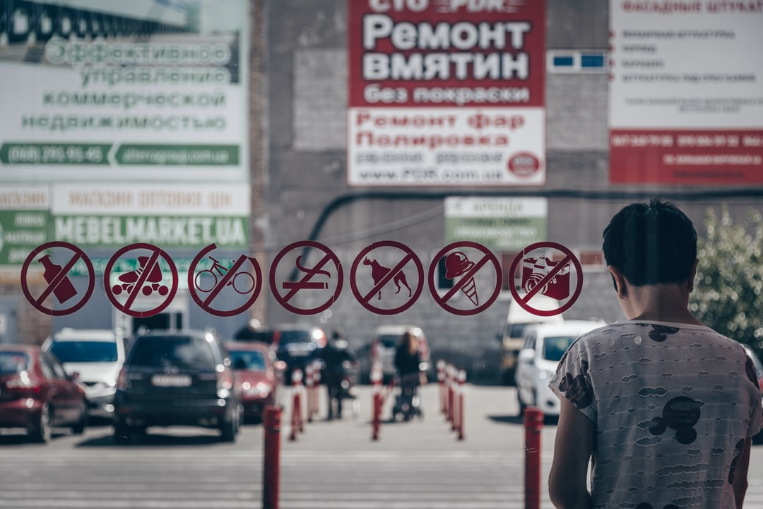 UKRAINE. Kiev. 2019. No! No! No! No! No! No! No! © Auchan