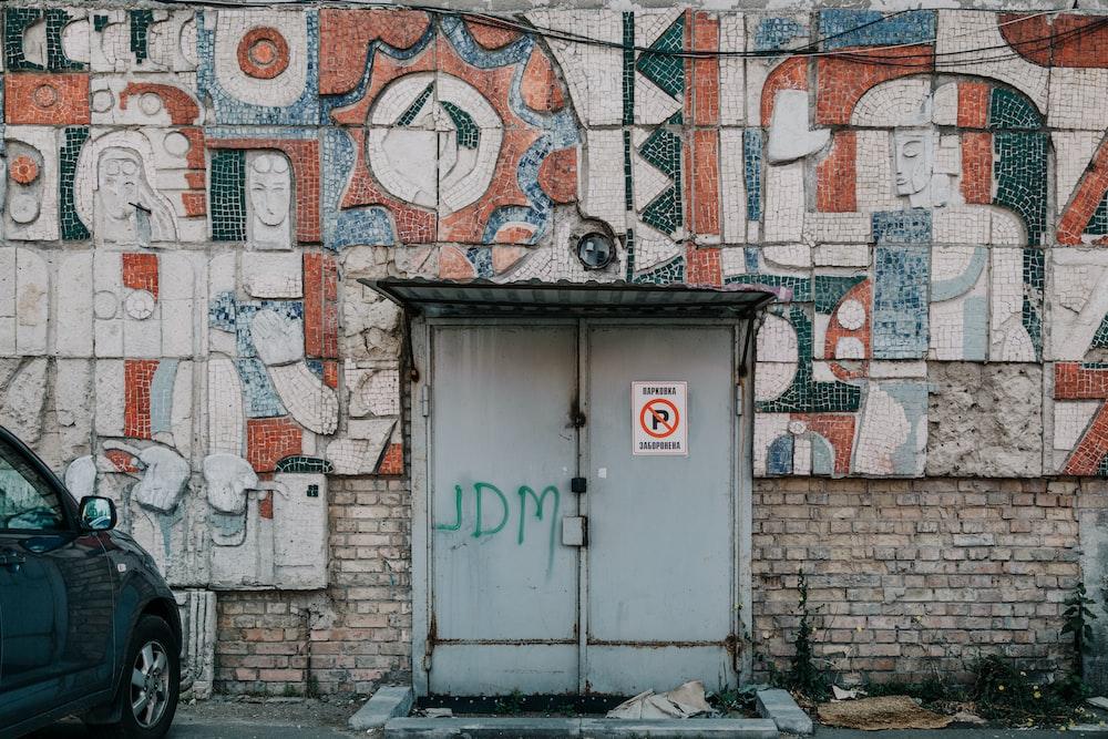 closed grey door