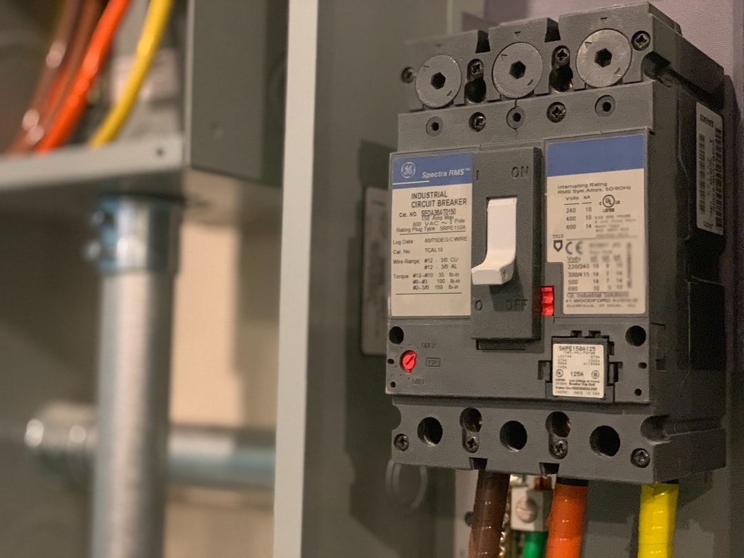 Breaker in an Electrical Panel and Wires