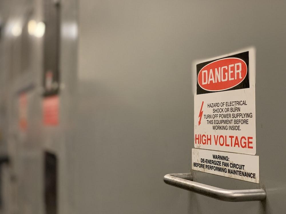 danger high voltage signage