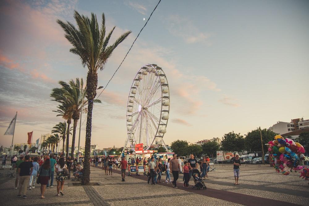 people near Ferris Wheel