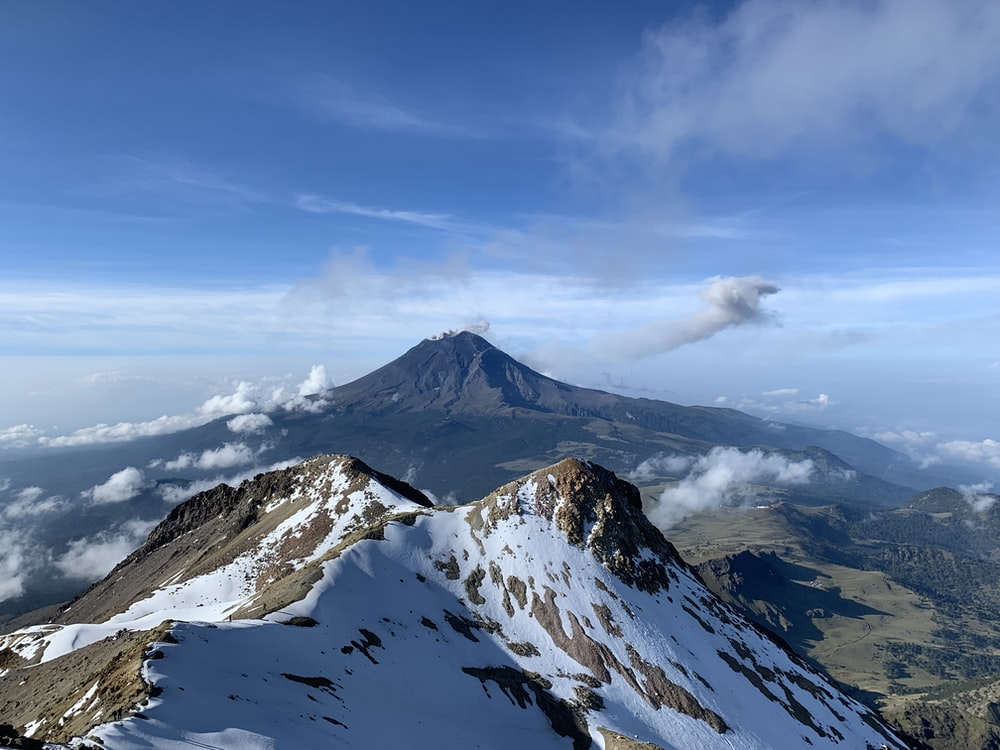 aerial-photography of mountain