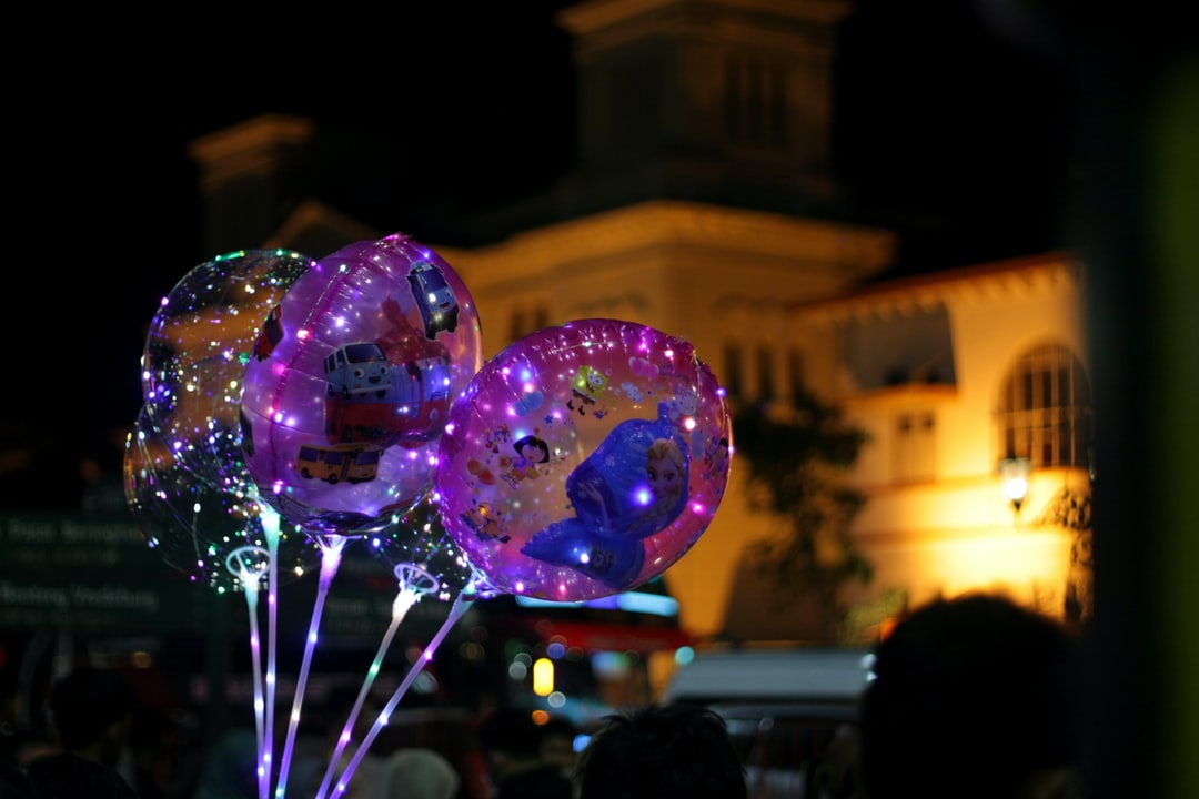 Taken at Km 0 of Malioboro, Yogyakarta. Childhood memories can be found here. Balloons with some pictures of cartoons like Spongebob Squarepants, Dora the Explorer, Frozen, etc., and also the lightings are the main focus in this photo to make it more beautiful.
