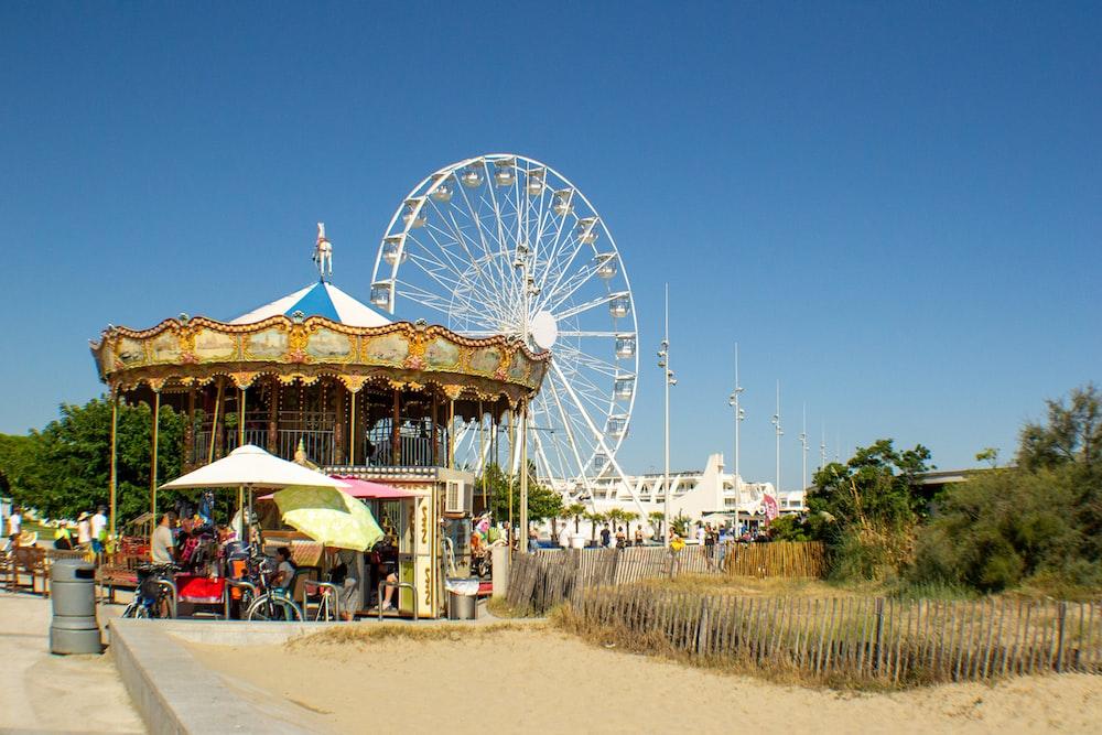 brown carnival ride