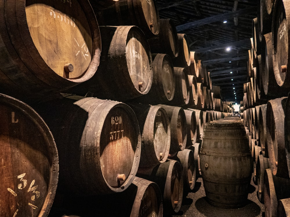 pile of barrels