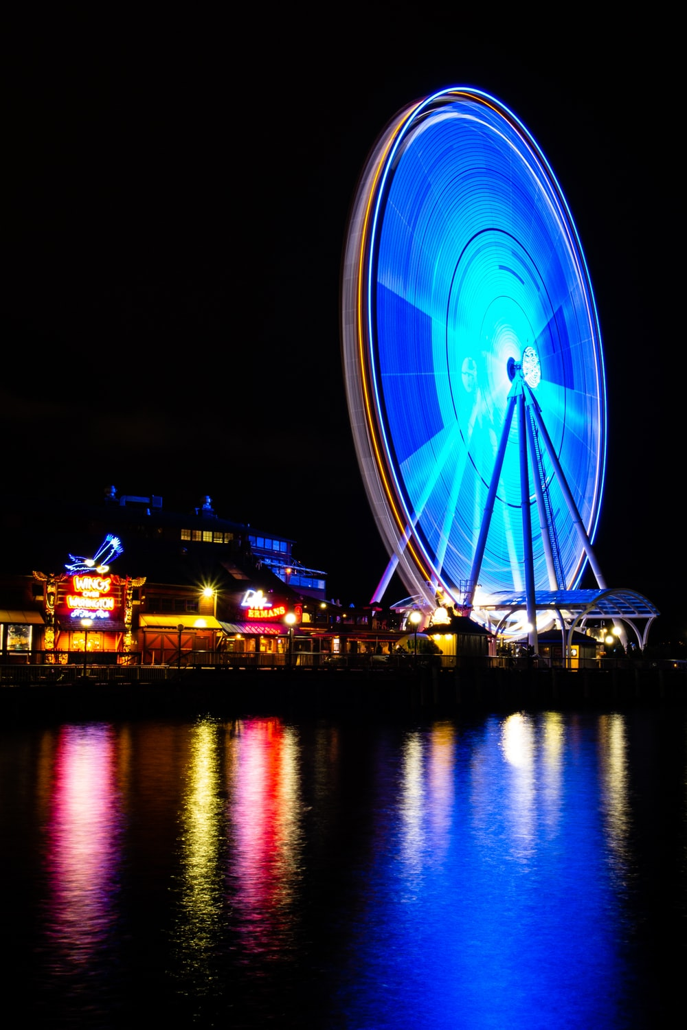Ferris wheel during nighttime