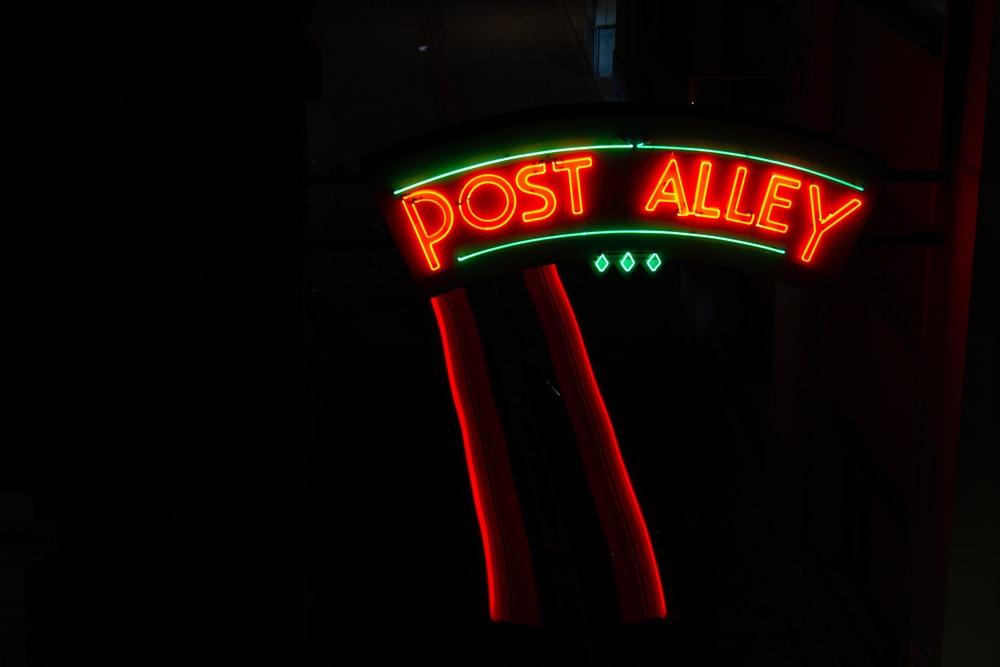 Post Alley LED signage