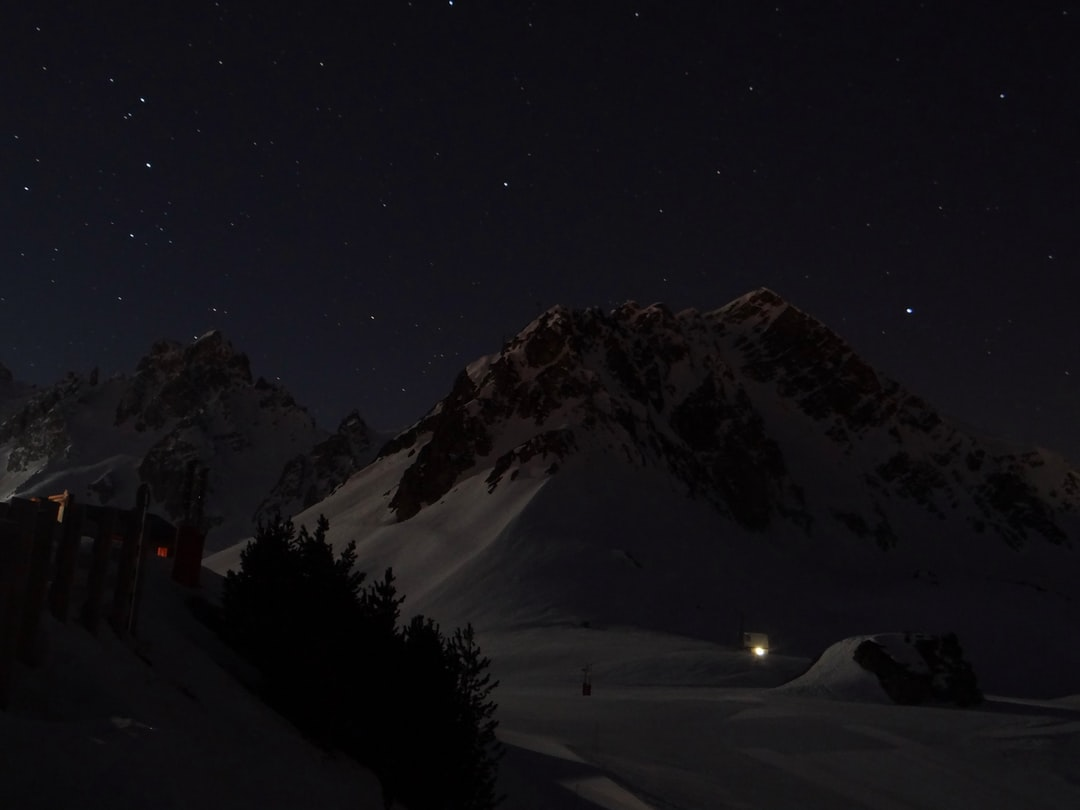 The mountain at night