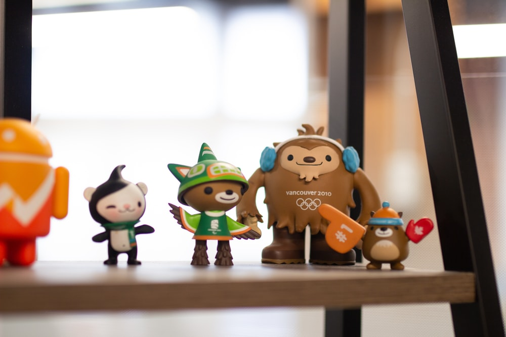 Miga, Quatchi, Sumi and Mukmuk action figures