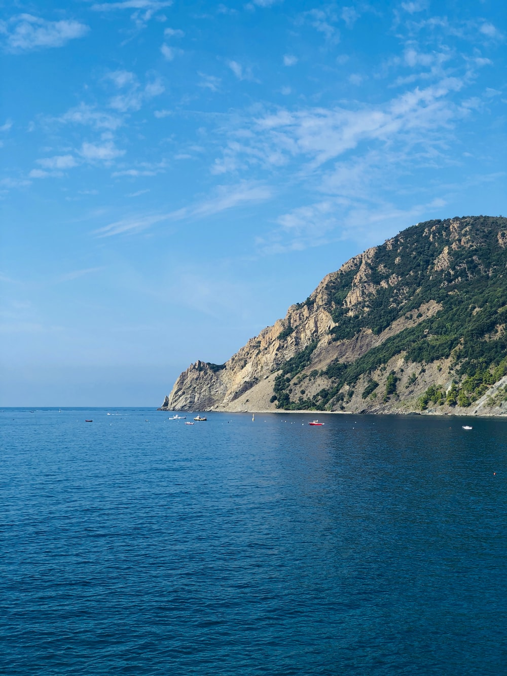 rock formation near sea