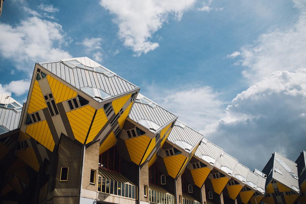yellow concrete building