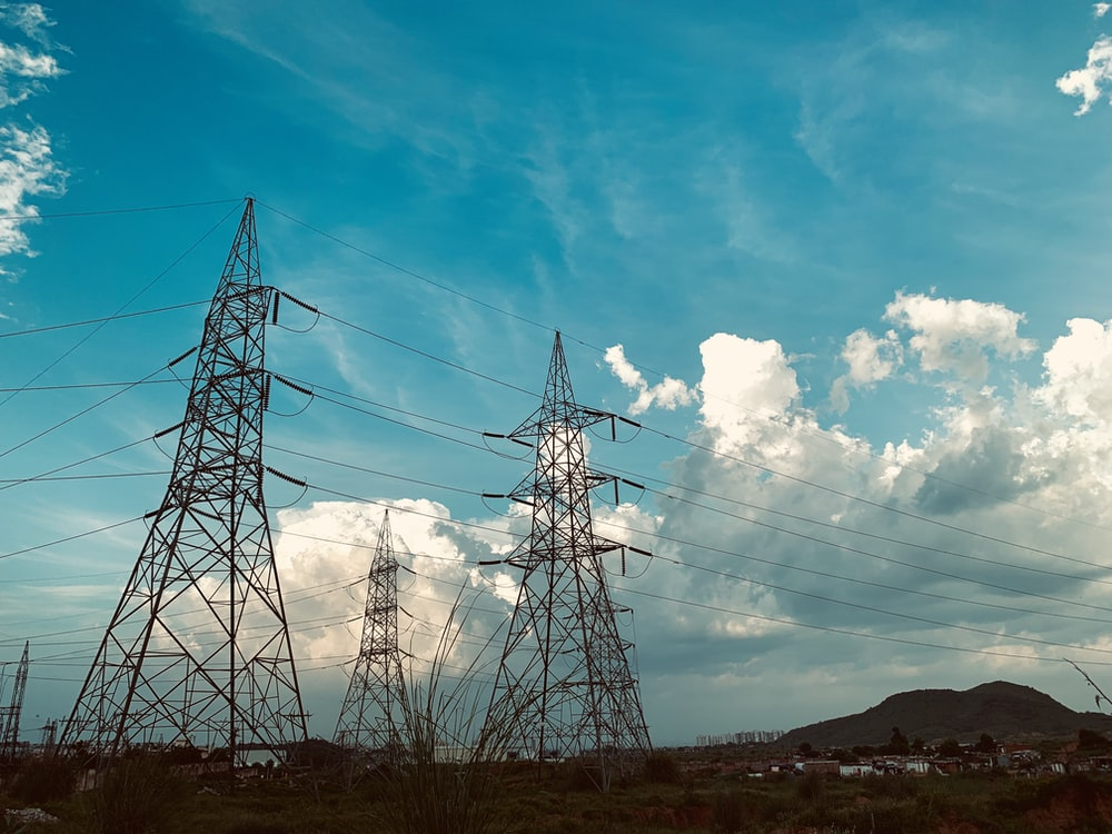 electric towers during daytime