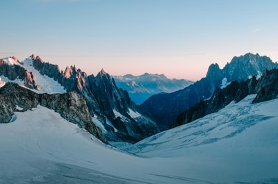 Glacier, Mont Blanc at dawn