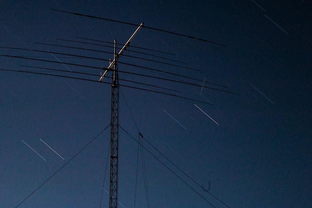 gray utility pole