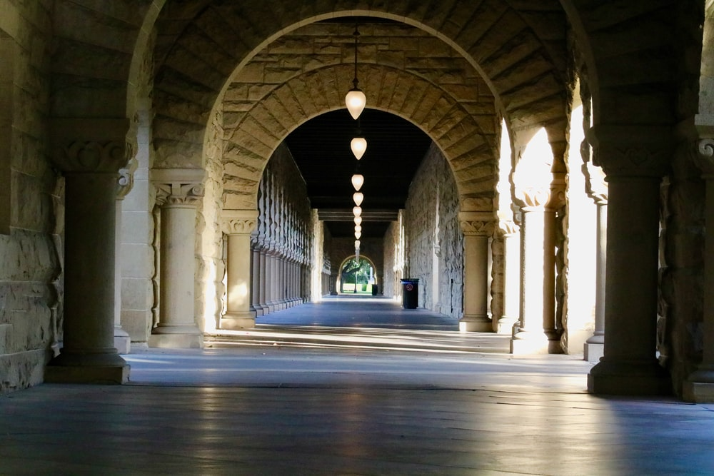 pendant lamps on hallway