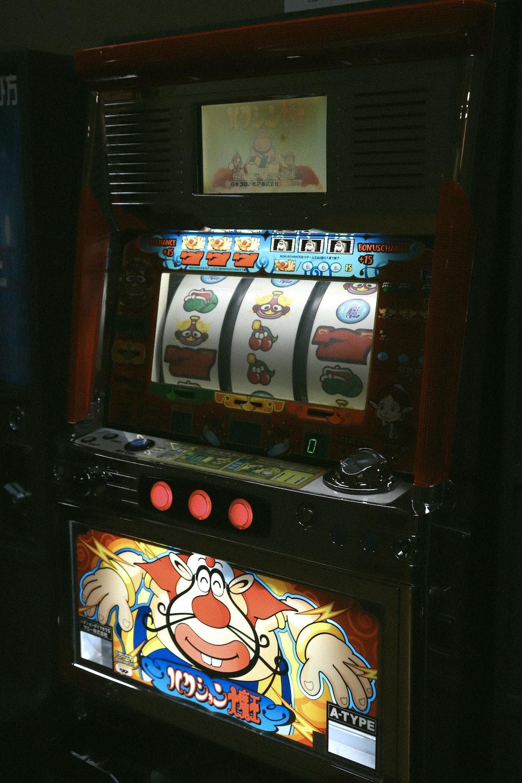 multicolored slot machine close-up photography