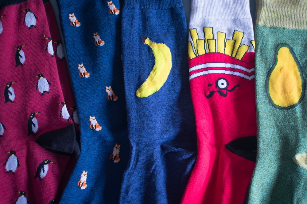 assorted-color clothes close up photography