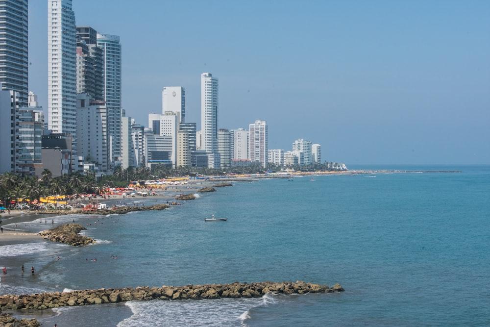 cityscape near sea