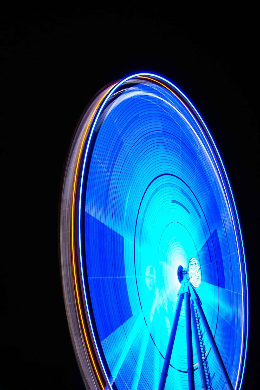 blue lighted circle illustration