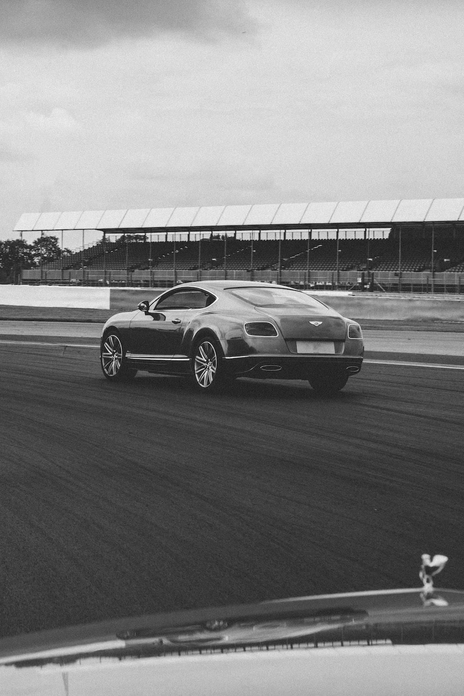 car in race track