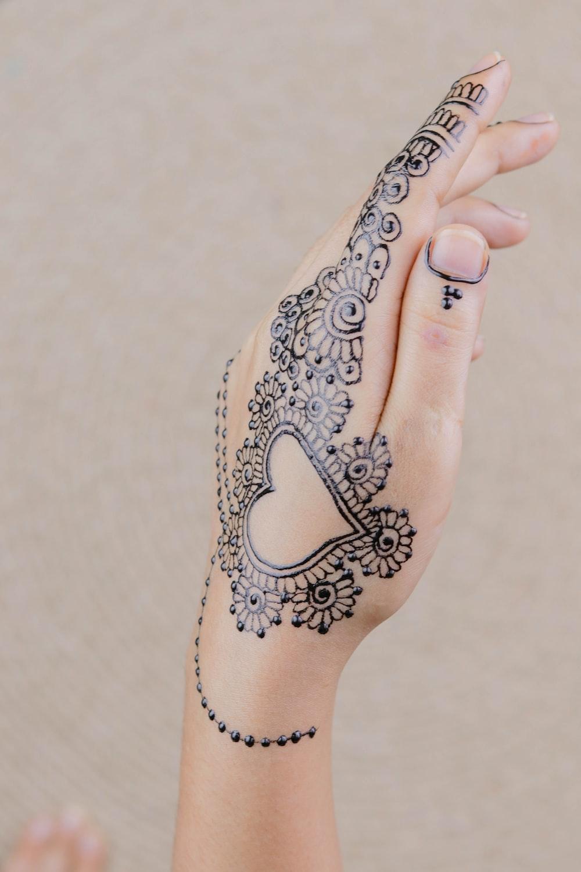 flower hand tattoo