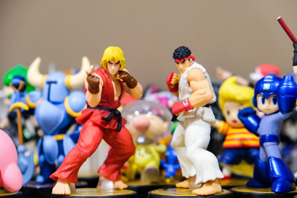Street Fighter Ken and Ryu figurines
