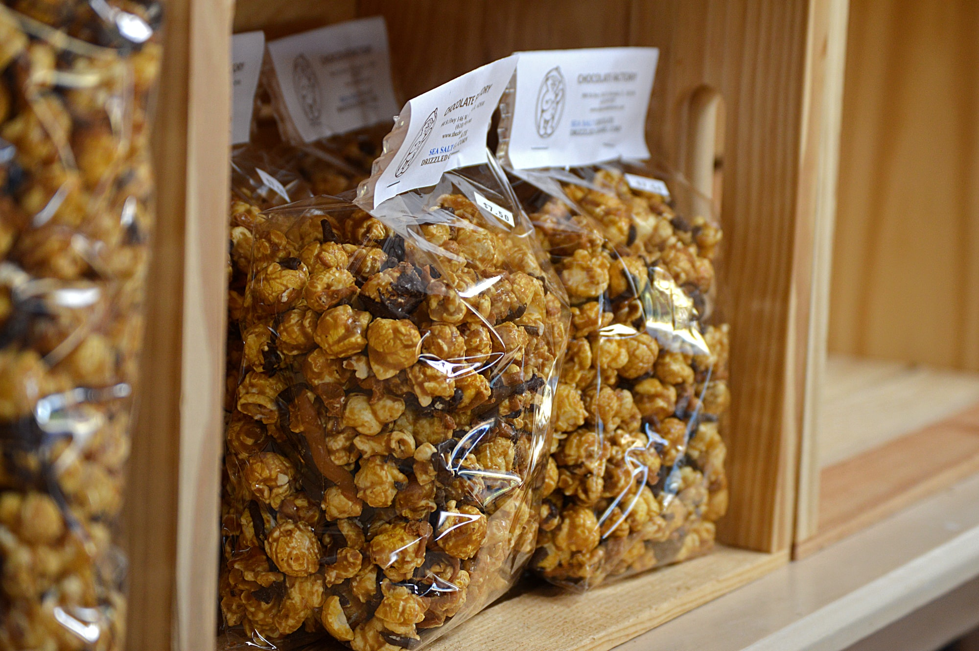 Delicious caramel corn from the Illinois State fair in DuQuoin, Illinois.