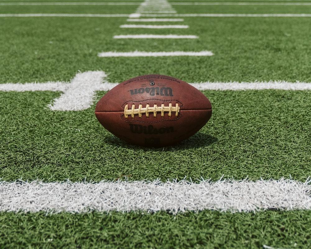 brown and black Wilson football