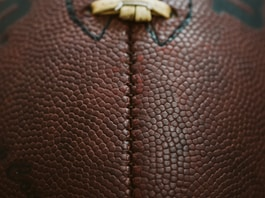 brown rugby ball