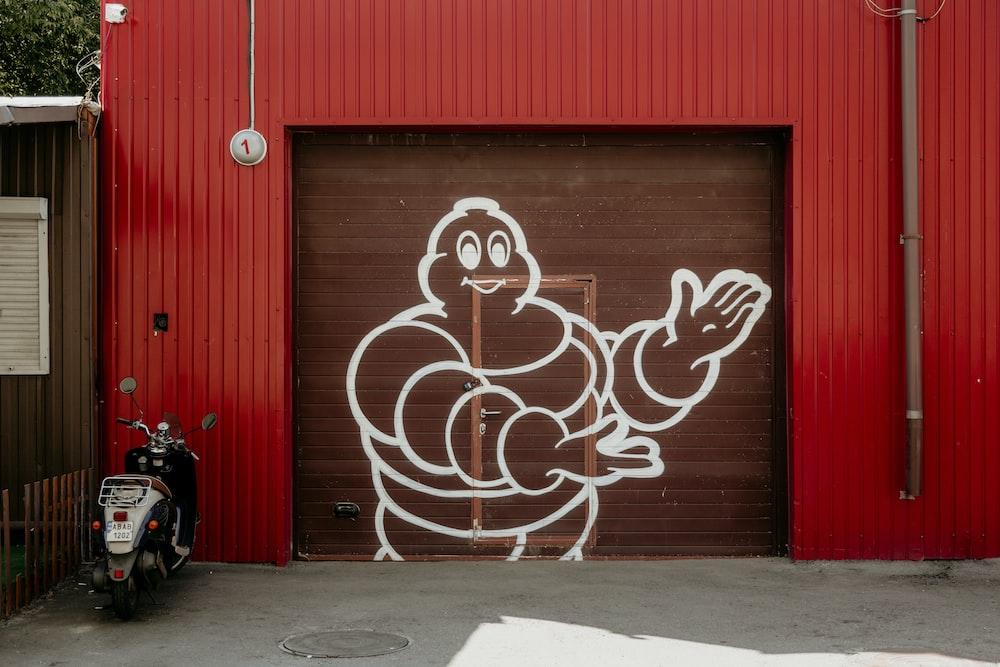 brown metal garage gate