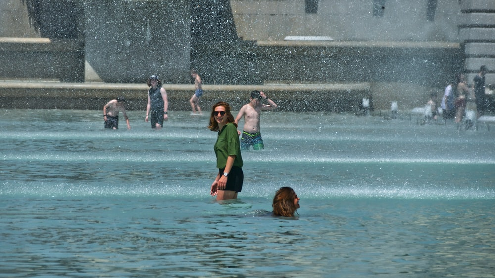 people on water
