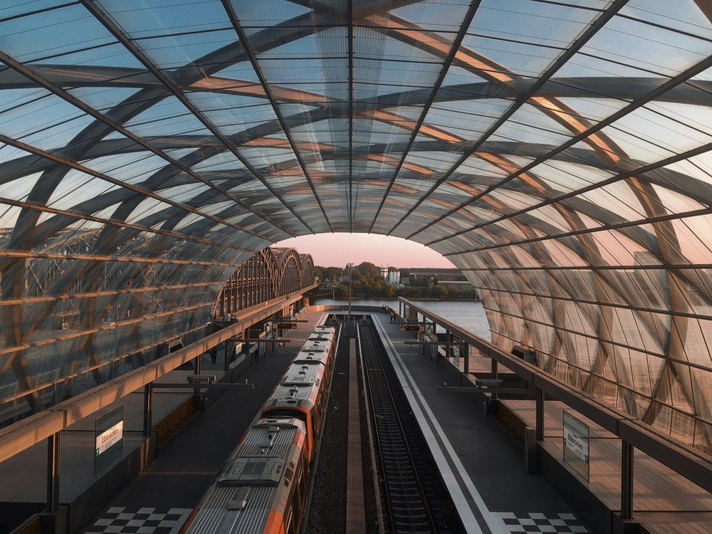 grey train during daytime