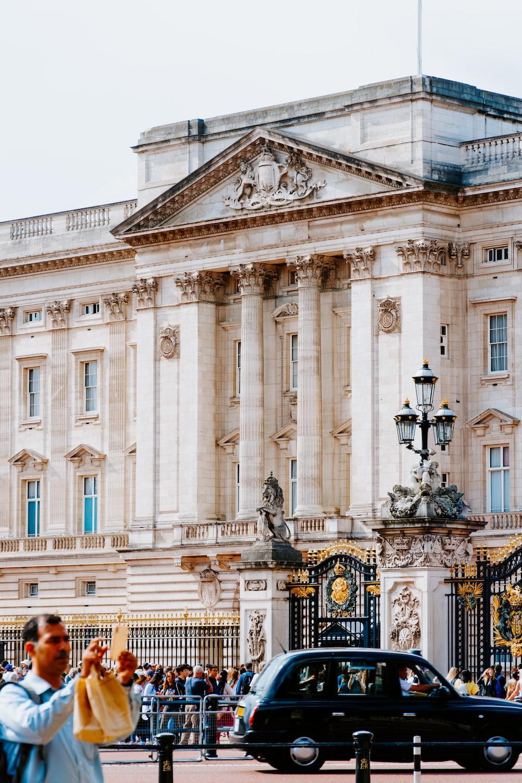 white palace under white sky