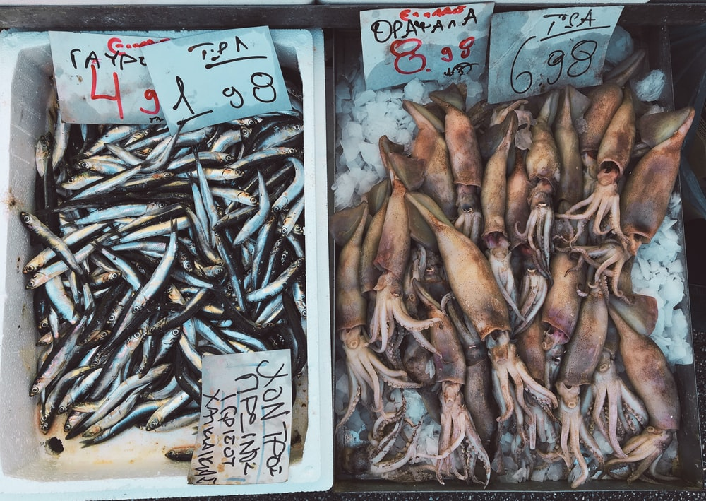 dried fish and squids