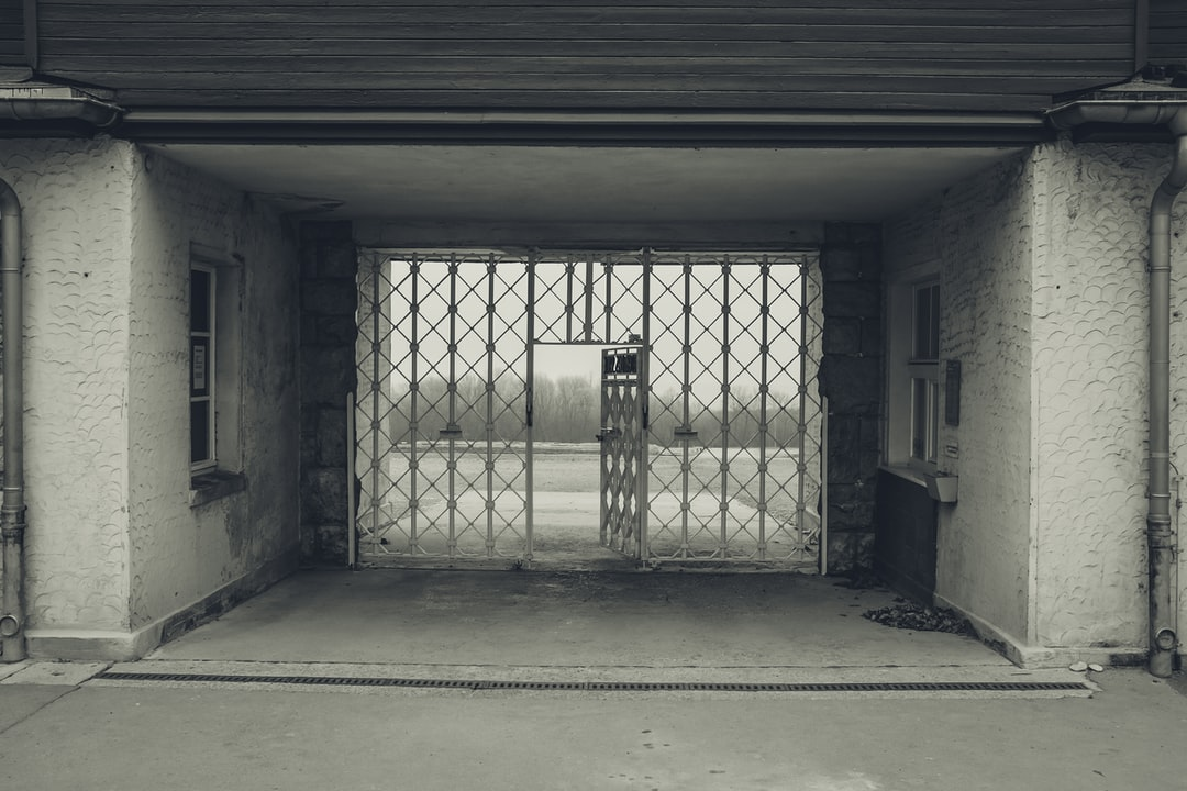 The entrance to the concentration camp in Buchenwald!