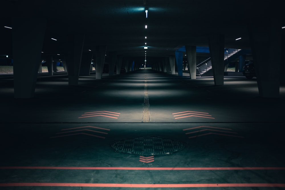 empty road at nighttime