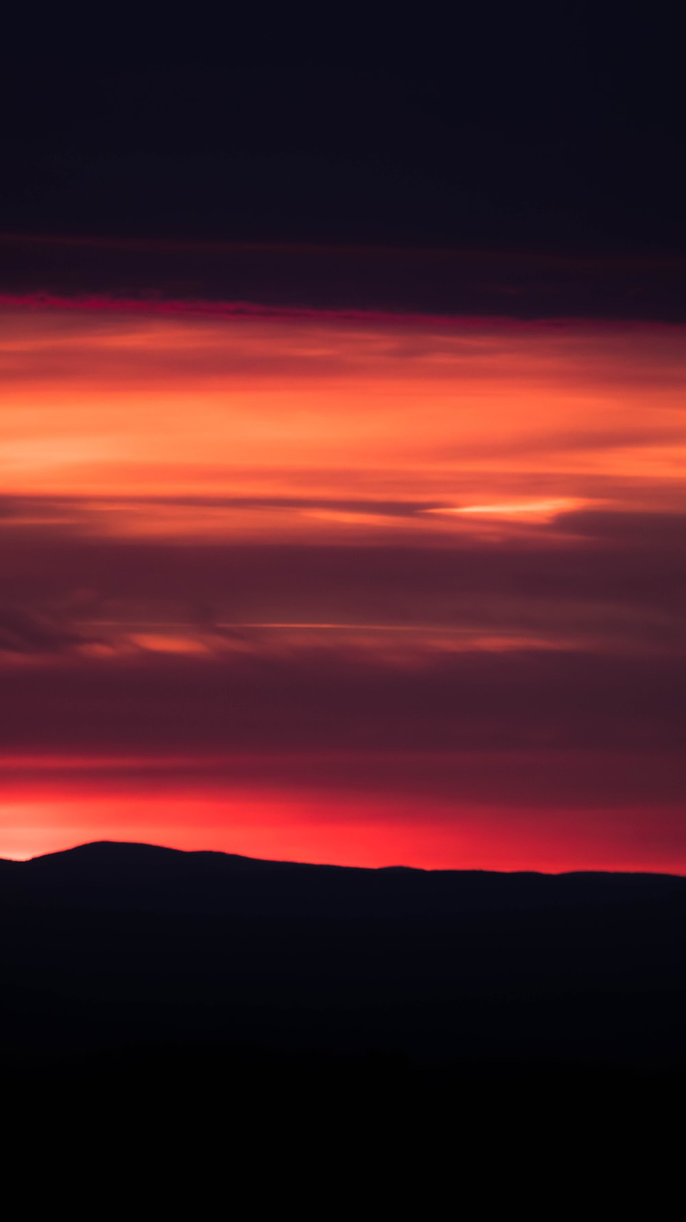 silhouette of mountain sunset scenery