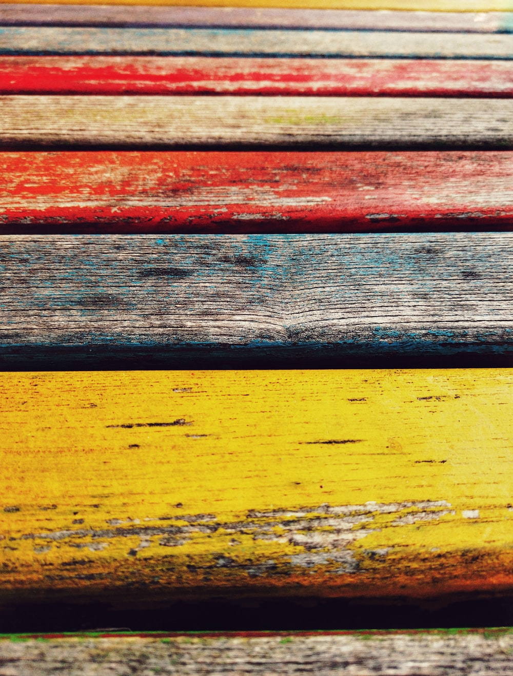 brown and red wooden planks